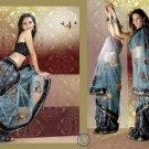 Indian Bollywood Designer Bridal Embroidered Sarees Sari - HZ964