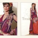 Faux Georgette Heavy Embroidery Lehenga Saree Sari With Blouse - MD 5006