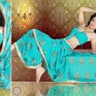 Indian Bollywood Designer Bridal Embroidered Sarees Sari - HZ957