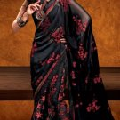 Faux Georgette Wedding Designer Embroidered Saree Sari With Blouse - X 1612