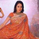 Indian Bollywood Designer Embroidered Saree Sari - X sanskruti2orange