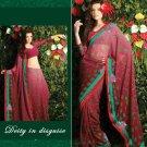 Indian / Pakistani Designer Bollywood Printed Light Work Saree Sari - X 1408
