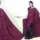 Indian Bollywood Designer Embroidered Saree Sari - X chitralekha