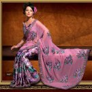 Faux Georgette Wedding Designer Embroidered Saree Sari With Blouse - X 1627