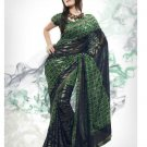 Faux Georgette Fabric Medium Sea Green Color Designer Printed Saree Sari -Nt136B