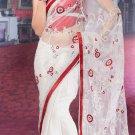 Sari & Sarees Net Designer Embroidered Sarees With Unstitch Blouse - RTN 81 N