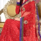 Sari & Sarees Net Designer Embroidered Sarees With Unstitch Blouse - RTN 87 N