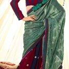 Viscose Wedding Designer Embroidery Saree Sari With Unstitch Blouse - RTN 75 N