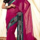 Viscose Wedding Designer Embroidery Saree Sari With Unstitch Blouse - RTN 77 N