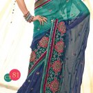 Viscose Wedding Designer Embroidery Saree Sari With Unstitch Blouse - RTN 81 N