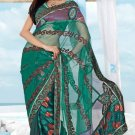 Wedding Net Georgette Designer Embroidered Saris Saree With Blouse - TS 25013 N