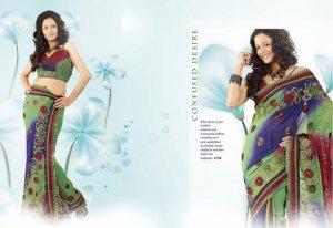 Indian Bollywood Designer Exclusive Fancy Partywear Saree Sari - DZ 1196