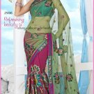 Wedding Net Georgette Designer Embroidered Saris Saree With Blouse - TS 25016 N