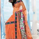 Wedding Net Designer Embroidered Saris Saree With Blouse - TS 25019B N