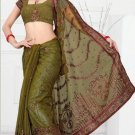 Wedding Net Designer Embroidered Saris Saree With Blouse - TS 24004 N