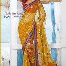 Wedding Net Brasso Designer Embroidered Saris Saree With Blouse- TS 25009 N
