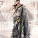 Net Wedding Heavy Embroidered Sarees Sari With Blouse - X 2402