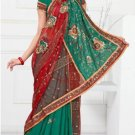 Wedding Faux Georgette Designer Embroidered Saris Saree With Blouse - TS 24016 N