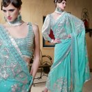 Saree Sari Indian Bollywood Designer Embroidered Fancy - X 409