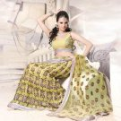 Net Wedding Heavy Embroidered Lehenga Sarees Sari With Blouse - X 2406
