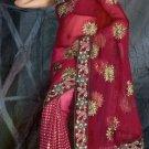 Sarees Sari Indian Bollywood Designer Embroidered Fancy Saris - x pari