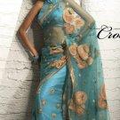 Saree Sari Indian Bollywood Designer Embroidered Fancy - X 516