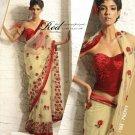 Saree Sari Indian Bollywood Designer Embroidered Fancy - X 508
