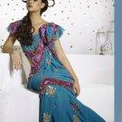 Saree Sari Indian Bollywood Designer Embroidered Fancy - X 327
