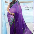 Wedding Faux Georgette Designer Embroidered Saris Saree With Blouse- TS 25007A N