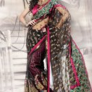 Net Wedding Heavy Embroidered Sarees Sari With Blouse - X 2427