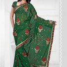 Wedding Faux Georgette Designer Embroidered Saris Saree With Blouse - TS 24009 N