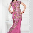 Wedding Faux Georgette Designer Embroidered Saris Saree With Blouse - TS 24007 N
