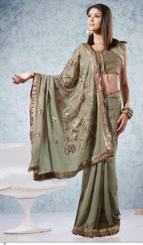 Party Wear Indian Look Sari Royal Look Traditional Sari Saree - X 408