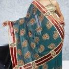 Party Wear Indian Look Sari Royal Look Traditional Sari Saree - X 407