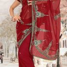 Indian Saree Bollywood Designer Bridal Wedding Sari Embroidery  - X 1273