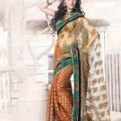 Net Viscose Wedding Heavy Embroidered Sarees Sari With Blouse - X 2407