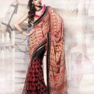 Net Georgette Wedding Heavy Embroidered Sarees Sari With Blouse - X 2412