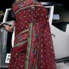 Indian Womens Clothing Saree Embroidered Saree Sari - X15005B