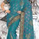 Indian Saree Bollywood Designer Bridal Wedding Sari Embroidery  - X 1284
