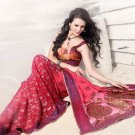 Net Georgette Viscose Wedding Heavy Embroidered Sarees Sari With Blouse - X 2418