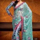 Net / Georgette Wedding Designer Embroidered Saree Sari With Blouse - X 1620