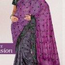 Indian Saree Bollywood Designer Bridal Wedding Sari Embroidery  - X 1283