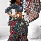 Indian Womens Clothing Saree Printed Saree Sari - X5617B
