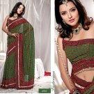 Saree Sari Indian / Pakistan Fancy Designer Embroidered - X1815