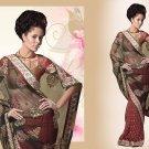 Embroiderd Bridal Wedding Designer Sarees Sari - X2267