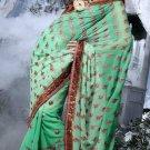 Indian Womens Clothing Saree Embroidered Saree Sari - X2222