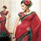 Embroidery Bridal Wedding Designer Saree Sari - X81