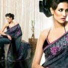 Embroidery Bridal Wedding Designer Saree Sari - X86