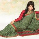 Faux Crape Sarees Sari Designer Printed Casual Fancy Saris - X 818B