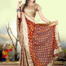 Indian Bollywood Designer Embroiderey Wedding Bridal Saree Sari - CH 1073